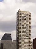 Torretta grigia del condominio con i balconi Fotografia Stock Libera da Diritti
