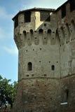 Torretta medioevale del castello Fotografia Stock