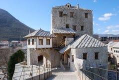 Torretta nella vecchia città di Mostar Fotografie Stock Libere da Diritti