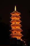 Torretta nera, Fuzhou, Cina Fotografie Stock