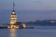 Torretta nubile a Costantinopoli, Turchia fotografia stock libera da diritti
