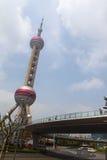 Torretta orientale della perla a Schang-Hai Fotografia Stock Libera da Diritti