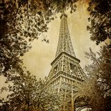 Torretta Parigi di Eiffle   Immagine Stock