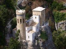 Torretta Pepoli, Erice, Sicilien, Italien Arkivfoto