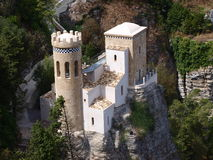 Torretta Pepoli, Erice, Sicily, Italy stock photo
