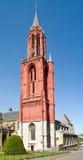 Torretta rossa della chiesa della st il John gotico. Fotografie Stock