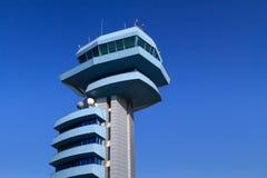 Torretta rumena dell'aeroporto Fotografia Stock Libera da Diritti