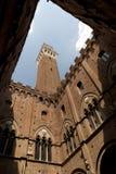 Torretta Siena di Palazzo Fotografia Stock