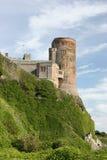 Torretta sudorientale del castello di Bamburgh Fotografie Stock