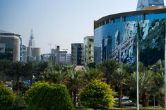 Torretta verde di Faisaliah e di Riyadh Immagine Stock Libera da Diritti