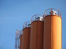 Torrette arancioni Fotografia Stock