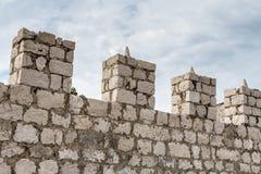 Torrette del castello Fotografia Stock