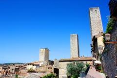 Torrette del San Gimignano Fotografia Stock Libera da Diritti