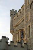 Torrette della fortificazione del castello Fotografia Stock