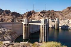 Torrette della presa alla diga di Hoover Immagine Stock