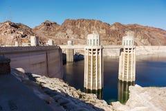 Torrette della presa alla diga di Hoover Fotografia Stock Libera da Diritti