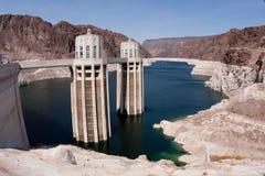 Torrette della presa della diga di Hoover Fotografia Stock