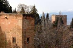 Torrette di Alhambra Immagini Stock
