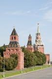 Torrette di Mosca Kremlin Fotografia Stock Libera da Diritti