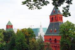 Torrette di Mosca Kremlin Luogo del patrimonio mondiale dell'Unesco Fotografie Stock Libere da Diritti