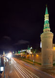 Torrette di Mosca Kremlin nella notte Fotografie Stock