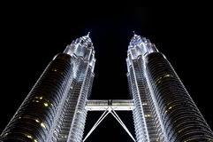 Torrette di Petronas, chilolitro, Malesia Immagini Stock Libere da Diritti