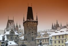 Torrette di Praga Fotografie Stock