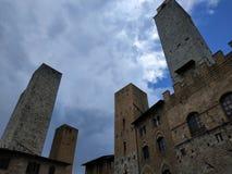 Torrette di San Gimignano, Italia fotografia stock libera da diritti