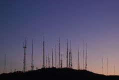 Torrette di telecomunicazioni Fotografia Stock Libera da Diritti