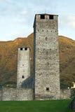 Torrette di vecchio castello Immagini Stock Libere da Diritti