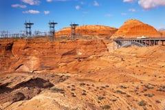 Torrette elettriche Arizona della diga del canyon della valletta Immagine Stock Libera da Diritti
