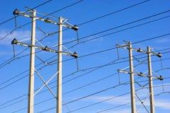 Torrette elettriche della trasmissione immagine stock