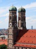 Torrette Frauenkirche Monaco di Baviera Immagini Stock Libere da Diritti