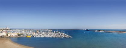 Torrevieja Alicante aerial panoramic sea Stock Image