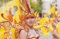 TORREVIEJA, EL 19 DE FEBRERO: Grupos del carnaval y caracteres vestidos Foto de archivo libre de regalías