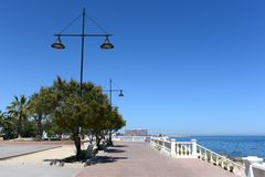 Torrevieja. Embankment  in city Royalty Free Stock Photo