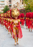 TORREVIEJA, FEBRUARY 19: Carnival groups and costumed characters. Carnival groups and costumed characters, parade through the streets of the city. FEBRUARY 19 Stock Photo