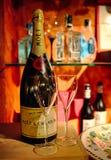 Torrevieja Hiszpania, Lipiec, - 28, 2015: Iskrzasty wino i szkło Restauracja w Torrevieja, Hiszpania Obraz Stock