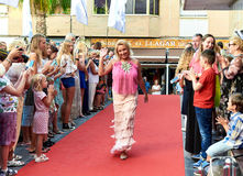Russian Film Festival. Torrevieja, Spain - July 1, 2017: Crowd of people on the opening of Russian Film Festival in the Torrevieja city. Costa Blanca. Spain stock images