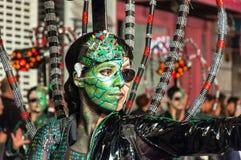 TORREVIEJA, SPANJE, 11,2018 FEBRUARI: De Groep en het kostuum van Carnaval Royalty-vrije Stock Foto's