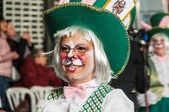 TORREVIEJA, SPANJE, 11,2018 FEBRUARI: De Groep en het kostuum van Carnaval Stock Afbeelding