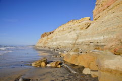 Torrey Pines State Natural Reserve en Strand Stock Afbeelding