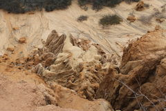 Torrey Pines State Park. Eroded Rock Royalty Free Stock Photo