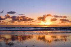 Torrey Pines Sunset Glory. Sunset on the beach at Torrey Pines National Park, San Diego, California Royalty Free Stock Photography