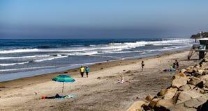 Torrey sosen stanu plaża Blisko losu angeles Jolla, Kalifornia zdjęcie royalty free