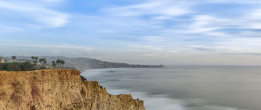 Torrey sosny, San Diego plaża, Kalifornia Zdjęcia Royalty Free