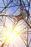 Torri ad alta tensione del trasporto di energia Immagine Stock Libera da Diritti
