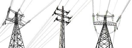 Torri ad alta tensione di elettricità Fotografia Stock Libera da Diritti