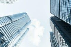 Torri alte dell'ufficio della città di Hong Kong Immagini Stock