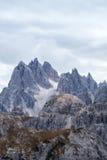 Torri alte di Cadini di Misurina nelle alpi della dolomia Fotografia Stock Libera da Diritti